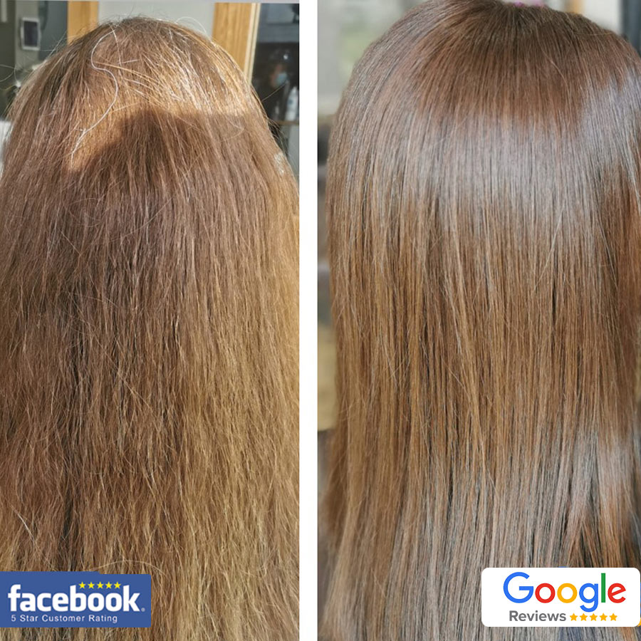 Beautifully Conditioned Straightened Haircut Blow Dry Hair by Blyth Hairdressers Hair at Ridley Park NE243HF 01670365009