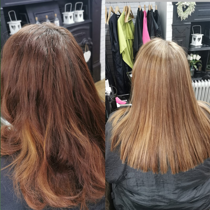 Foils Natural Blonde Look Restored by Hair at Ridley Park Blyth Hairdressers 01670365009 NE243HF