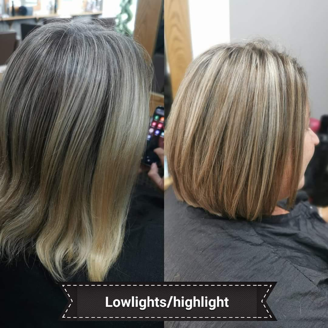 Lowlights and Highlights and Bob Haircut by Faye at Hair at Ridley Park Blyth Hairdressers